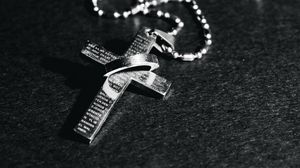 Preview wallpaper cross, chain, religion, god