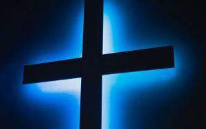 Preview wallpaper cross, neon, glow, religion, god