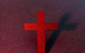 Preview wallpaper cross, religion, god, red