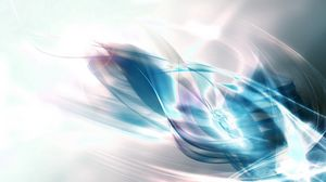 Preview wallpaper crystal, energy, line, feathers, bright