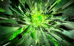 Preview wallpaper crystals, debris, explosion, light