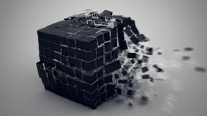 Preview wallpaper cube, burst, forming