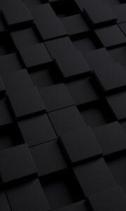 Preview wallpaper cube, dark, texture, shape