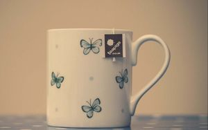 Preview wallpaper cup, bag, tea, beverage