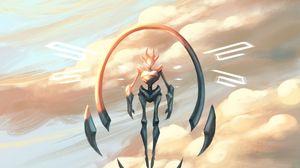 Preview wallpaper cyborg, cyberpunk, fantasy, rocks