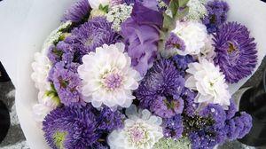 Preview wallpaper dahlias, chrysanthemums, flowers, bouquet, decoration