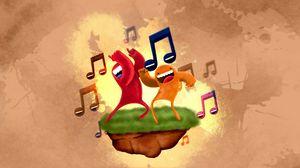 Preview wallpaper dance, music, sheet music, colorful, grass, island