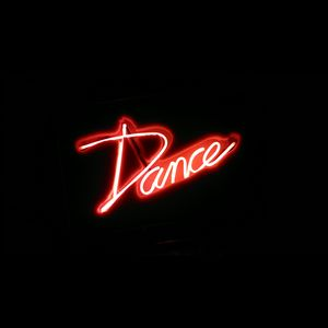 Preview wallpaper dance, word, neon, light, red