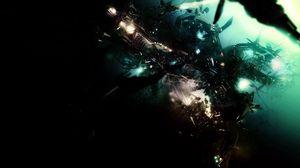 Preview wallpaper dark, explosion, imagination, object