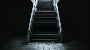 Preview wallpaper dark, stairs, tunnel