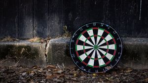 Preview wallpaper darts, board, leaves