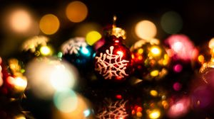 Preview wallpaper decorations, balls, colorful, new year, christmas