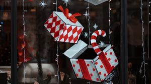 Preview wallpaper decorations, boxes, gifts, garlands, new year, christmas, holiday
