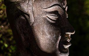 Preview wallpaper deity, god, statue, religion, dark