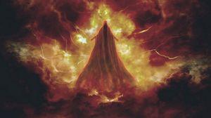 Preview wallpaper demon, cloak, gloomy