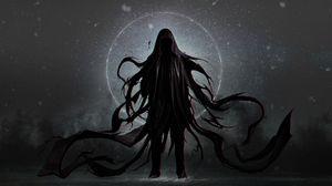 Preview wallpaper demon, cloak, hood, gloomy
