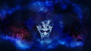 Preview wallpaper demon, devil, art, starry sky, gloomy