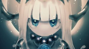 Preview wallpaper demon, girl, glance, anime, art
