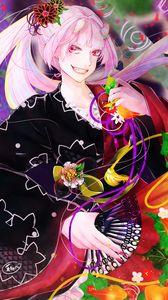 Preview wallpaper demon, girl, horns, kimono, anime, art