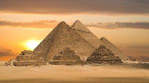 Preview wallpaper desert, pyramids, egypt