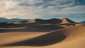 Preview wallpaper desert, sand, dunes, hills, hilly
