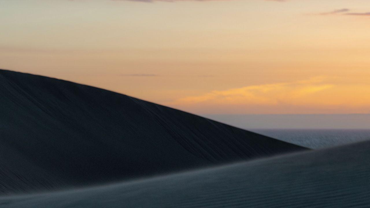 【壁纸桌面】沙漠,沙子,沙丘,天空,夜晚高清壁纸免费下载