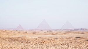 Preview wallpaper desert, sand, pyramids