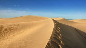 Preview wallpaper desert, sand, sky, wind