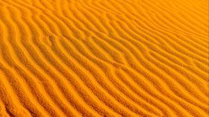 Preview wallpaper desert, sand, wavy, texture