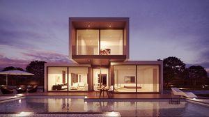 Preview wallpaper design, interior, pool, modern