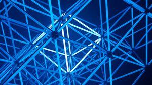 Preview wallpaper design, neon, light, geometric, backlight