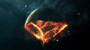 Preview wallpaper destruction, earth, fire, piece, doomsday
