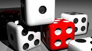 Preview wallpaper dice, cubes, 3d, space