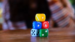 Preview wallpaper dice, cubes, game, colorful