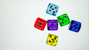 Preview wallpaper dice, cubes, colorful, game