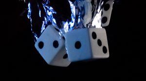 Preview wallpaper dice, cubes, water, splash, black