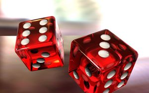 Preview wallpaper dice, game, red, white, glass
