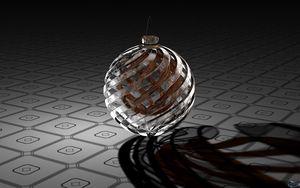 Preview wallpaper digital art, 3d, ball, surface
