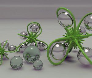 Preview wallpaper digital art, 3d, balls, figure