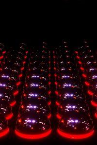 Preview wallpaper digital art, 3d, balls, lights