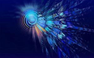 Preview wallpaper digital art, circles, lines, dark