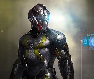 Preview wallpaper digital art, cyber, circuit, mask