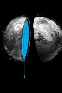 Preview wallpaper digital art, planet, water