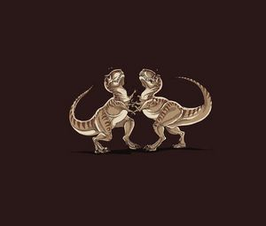 Preview wallpaper dinosaur, animal, drawing