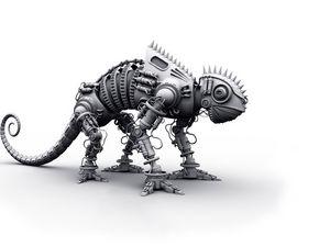 Preview wallpaper dinosaur, metal, shape, silver, toy