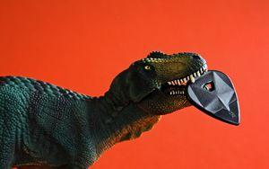 Preview wallpaper dinosaur, toy, pick