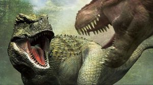 Preview wallpaper dinosaurs, mouth, fangs, aggression