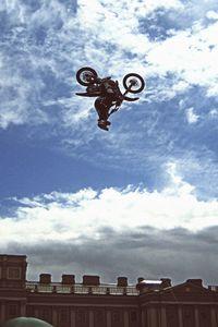 Preview wallpaper dirt bike, motorcycle, jump, show, sports, fmx, st petersburg