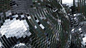 Preview wallpaper disco balls, disco, sequins, silver