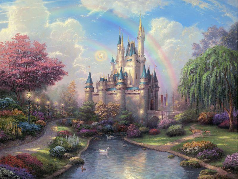 800x600 Wallpaper disneyland, park, art, fairy, painting